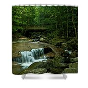 The Flume Gorge Trail Shower Curtain