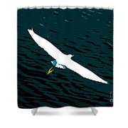 The Flying Egret Shower Curtain