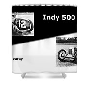 The Flying Frenchman Indy 500 1927 Leon Duray Shower Curtain