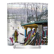 The Foggy Goggle At Seven Springs Shower Curtain
