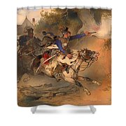 The Foraging Hussar 1840 Shower Curtain