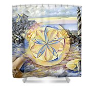 The Forces Of Thought Shower Curtain