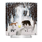 The Forest Guardians Shower Curtain