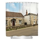 The Forge And Blacksmith's Cottage Mylor Bridge Shower Curtain