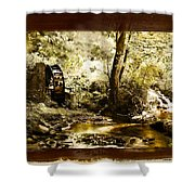 The Forgotten Watermill Wheel Shower Curtain