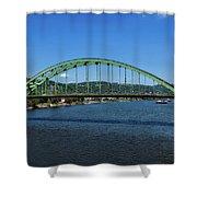 The Fort Henry Bridge - Wheeling West Virginia Shower Curtain