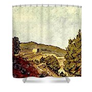 The Fort In Lorca Shower Curtain