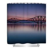 The Forth Bridge Before Sunrise Shower Curtain