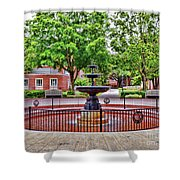 The Fountain At Radford University Shower Curtain