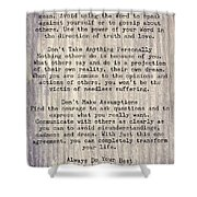 The Four Agreements 6 Shower Curtain