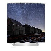 The Four Barns Of Drumheller Shower Curtain