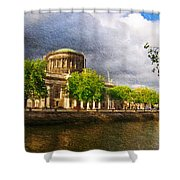 The Four Courts In Reconstruction 2 Shower Curtain