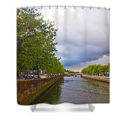 The Four Courts In Reconstruction 3 Shower Curtain