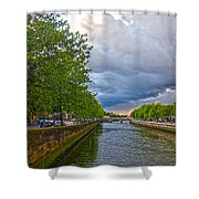 The Four Courts In Reconstruction 3 V2 Shower Curtain