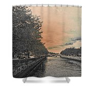 The Four Courts In Reconstruction 3 V4 Shower Curtain