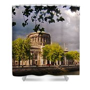 The Four Courts In Reconstruction Shower Curtain