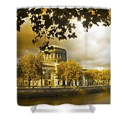 The Four Courts In Reconstruction Sepia Shower Curtain