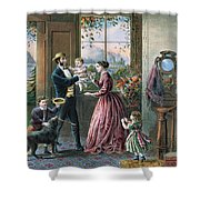 The Four Seasons Of Life  Middle Age Shower Curtain by Currier and Ives