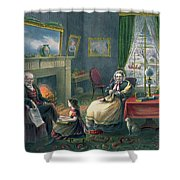 The Four Seasons Of Life  Old Age Shower Curtain