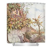 The Fox And The Grapes Shower Curtain