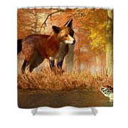 The Fox And The Turtle Shower Curtain