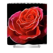 The Fractalius Rose Shower Curtain