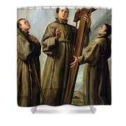 The Franciscan Martyrs In Japan Shower Curtain by Don Juan Carreno de Miranda