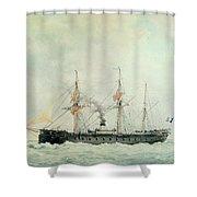 The French Battleship Shower Curtain