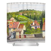 The French Village Of Billy In The Auvergne Shower Curtain