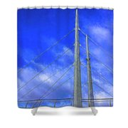 The Frienship Bridge Shower Curtain