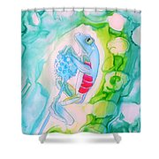 The Frog And Flower Shower Curtain