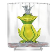 The Frog King Shower Curtain