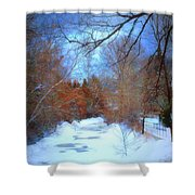The Frozen Creek Shower Curtain