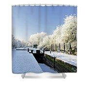 The Frozen Dallow Lane Lock Shower Curtain