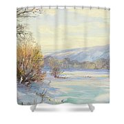 The Frozen Lake Shower Curtain