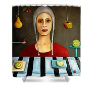 The Fruit Collector Shower Curtain by Leah Saulnier The Painting Maniac