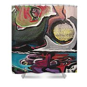 The Full Moon2 Shower Curtain