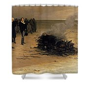 The Funeral Of Shelley Shower Curtain