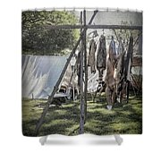 The Fur Trader's Camp 1812 Shower Curtain