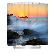 The Fury Of The Sea Shower Curtain