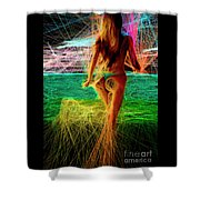 The Future Is Ahead Shower Curtain