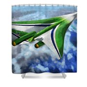 The Future Of Air Transportation Shower Curtain