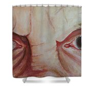 The Future Was Clouded Shower Curtain