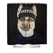 The Fuzz Shower Curtain