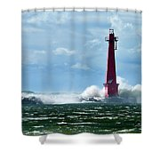 The Gale Of October Shower Curtain