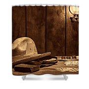 The Gambler Hat Shower Curtain