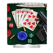 The Gambler Shower Curtain by Paul Ward