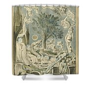 The Gambols Of Ghosts According With Their Affections Previous To The Final Judgement Shower Curtain