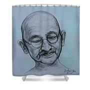 The Gandhi Head Shower Curtain