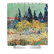 The Garden At Arles  Shower Curtain by Vincent Van Gogh